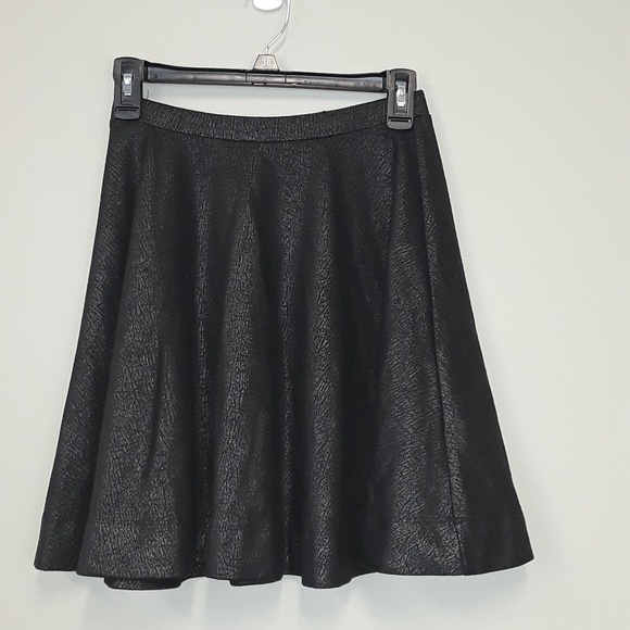 Express Dresses & Skirts - Express fit and flare black metallic skirt